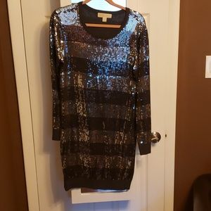 Michael Kors sequin sweater dress